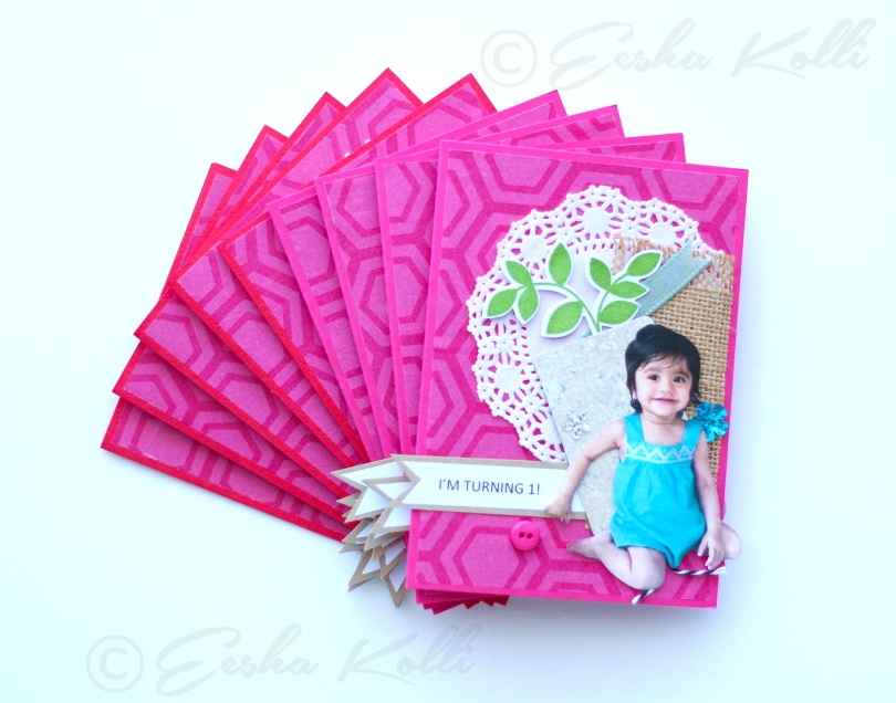 1st Birthday Invitations – Baby Girl – Eesha Kolli